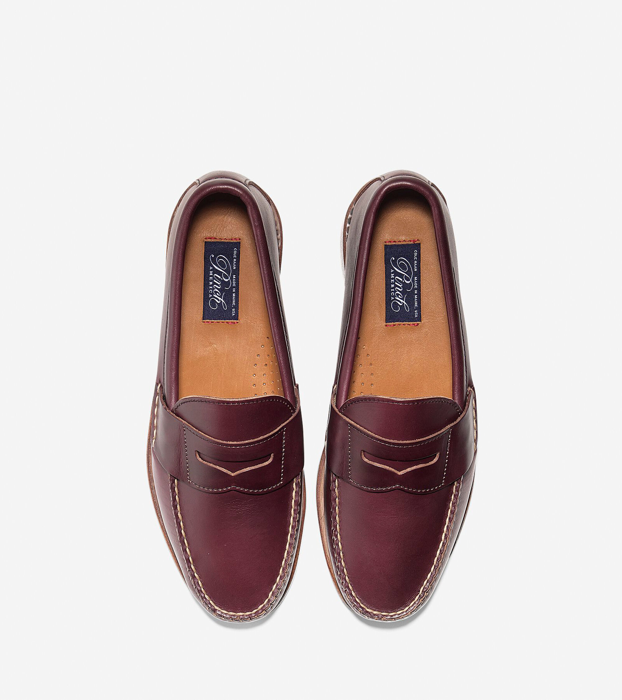 c09b10e6276 Men s Pinch USA Loafers in Burgundy