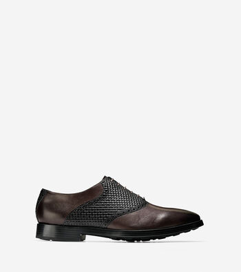 Jefferson Grand Woven Saddle Oxford