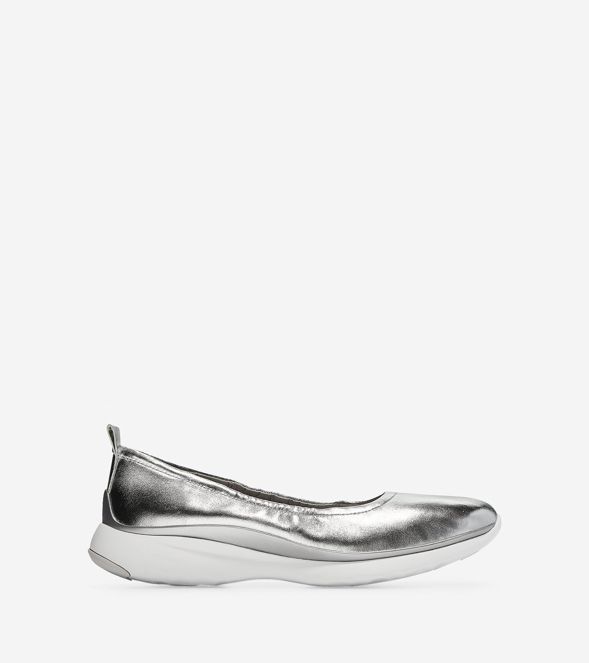 e7c6b6d213f Women s 3.ZEROGRAND Ruched Slip-On Ballet Flats in Argento