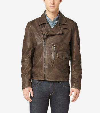 Matte Leather Rider Jacket