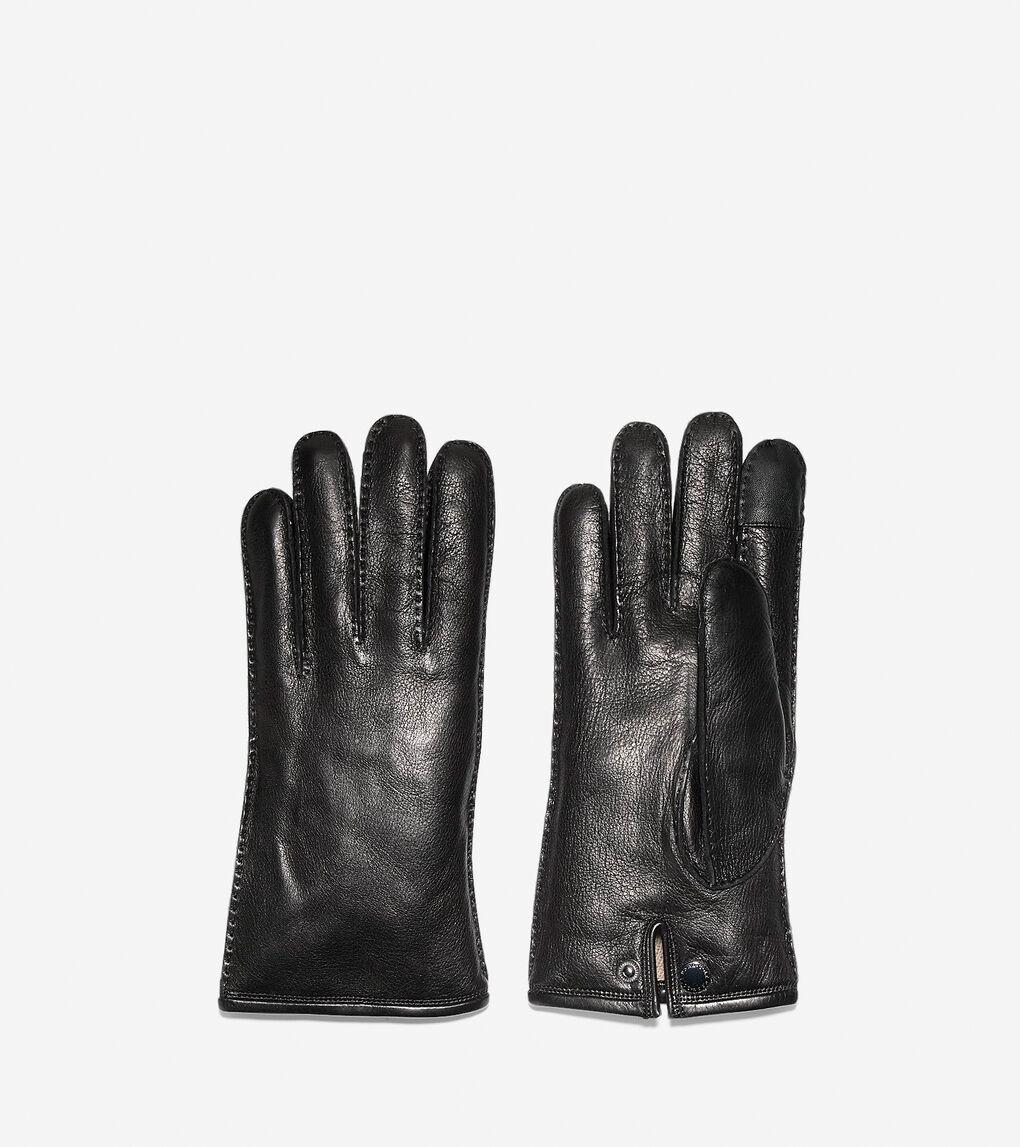 Mens Snap Button Gloves