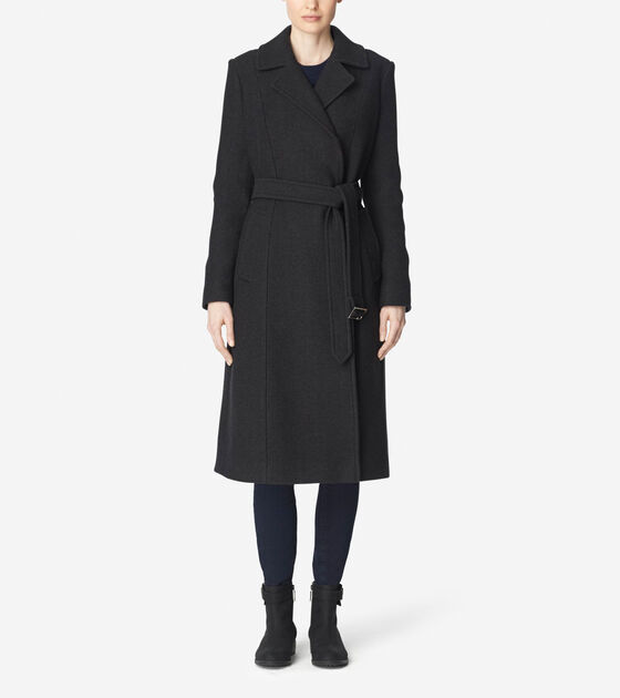 Accessories & Outerwear > Double Breasted Maxi Coat