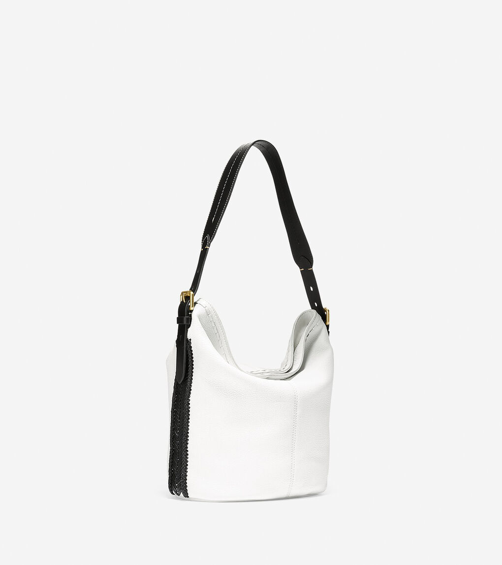 Womens Loralie Whipstitched Bucket Hobo