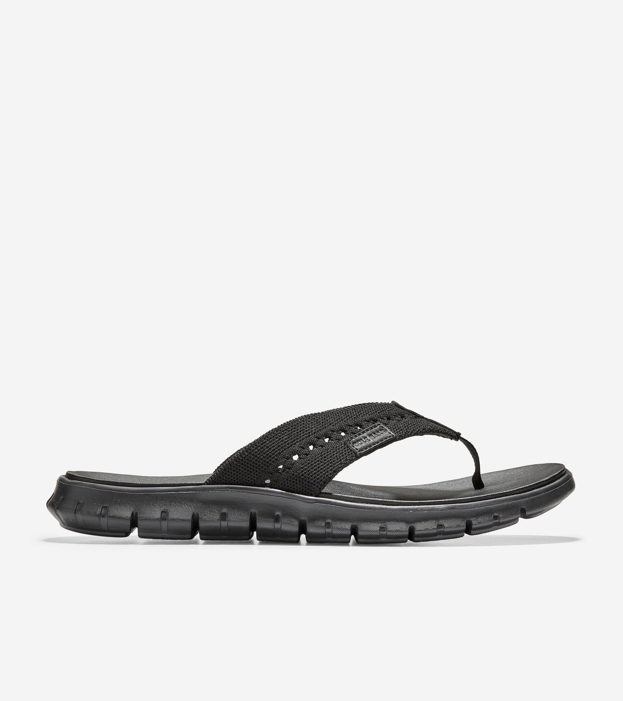 Men's ZERØGRAND Thong Sandal in Black