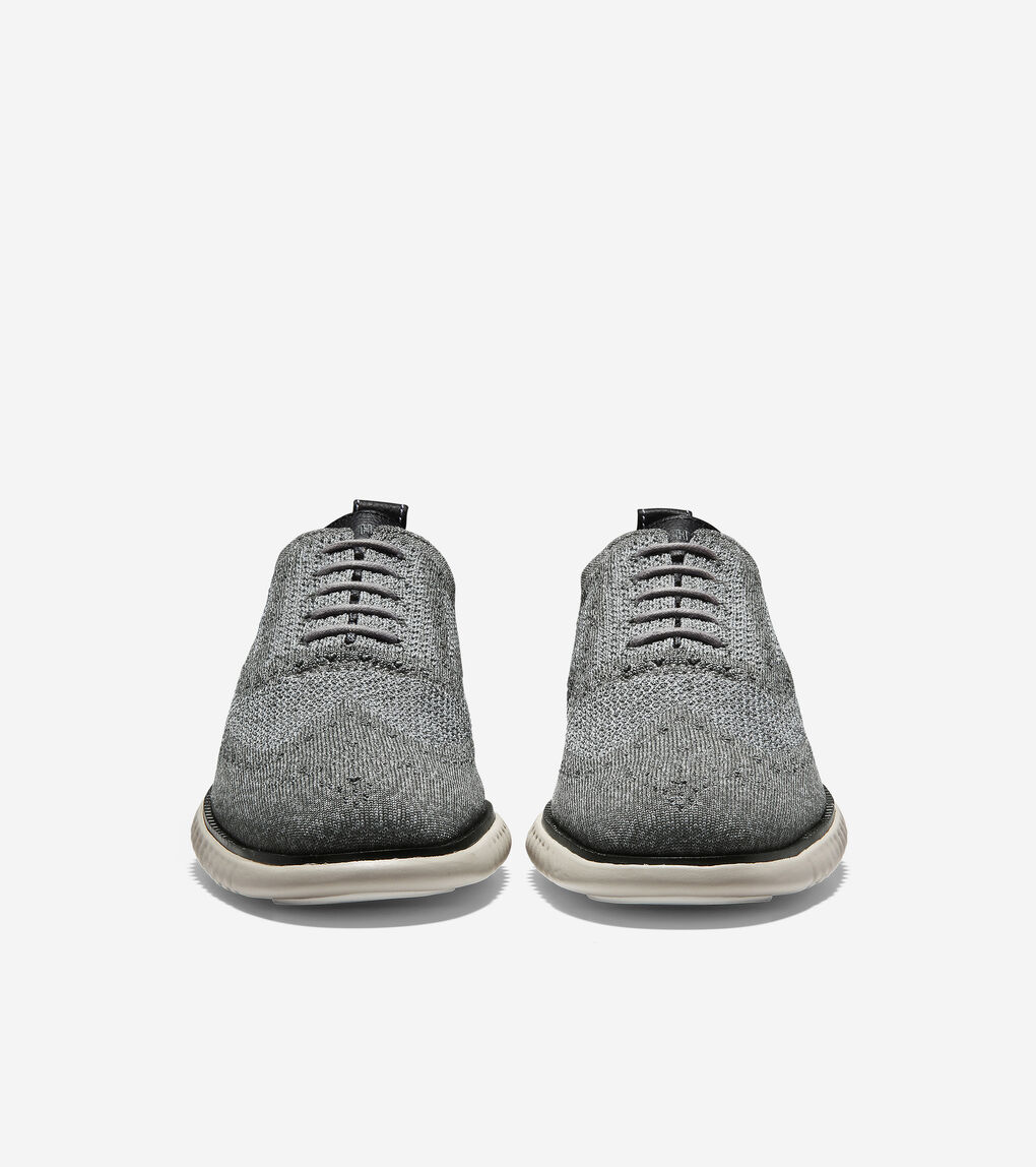 Cole Haan Mens 2 ZEROGRAND Stitchlite Gray Oxfords 7.5 Medium D BHFO 9900