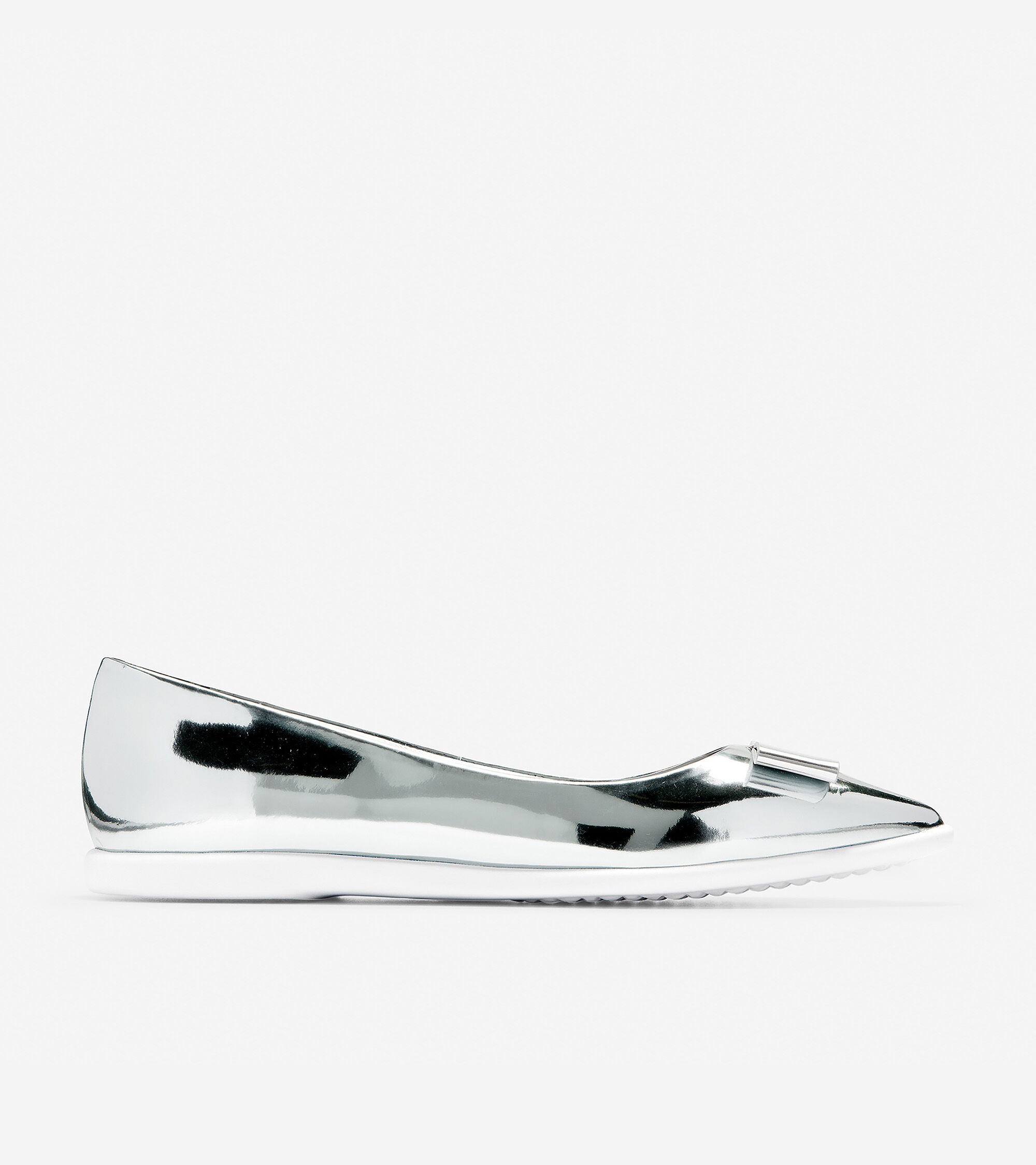bf7ebed9e02 Women s 3.ZEROGRAND Bow Skimmer Flats in Argento