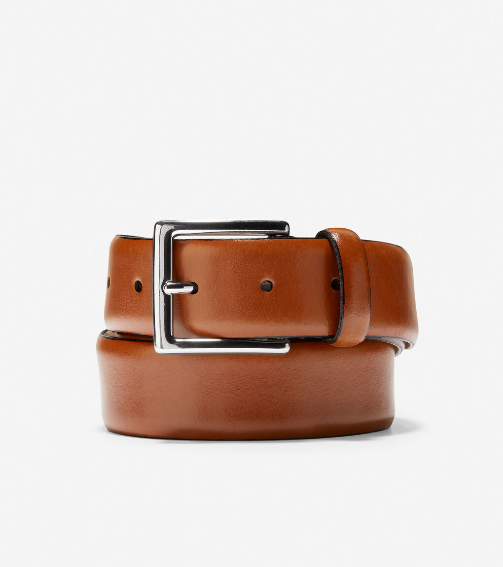Mens Made In Italy Smooth Leather Belt