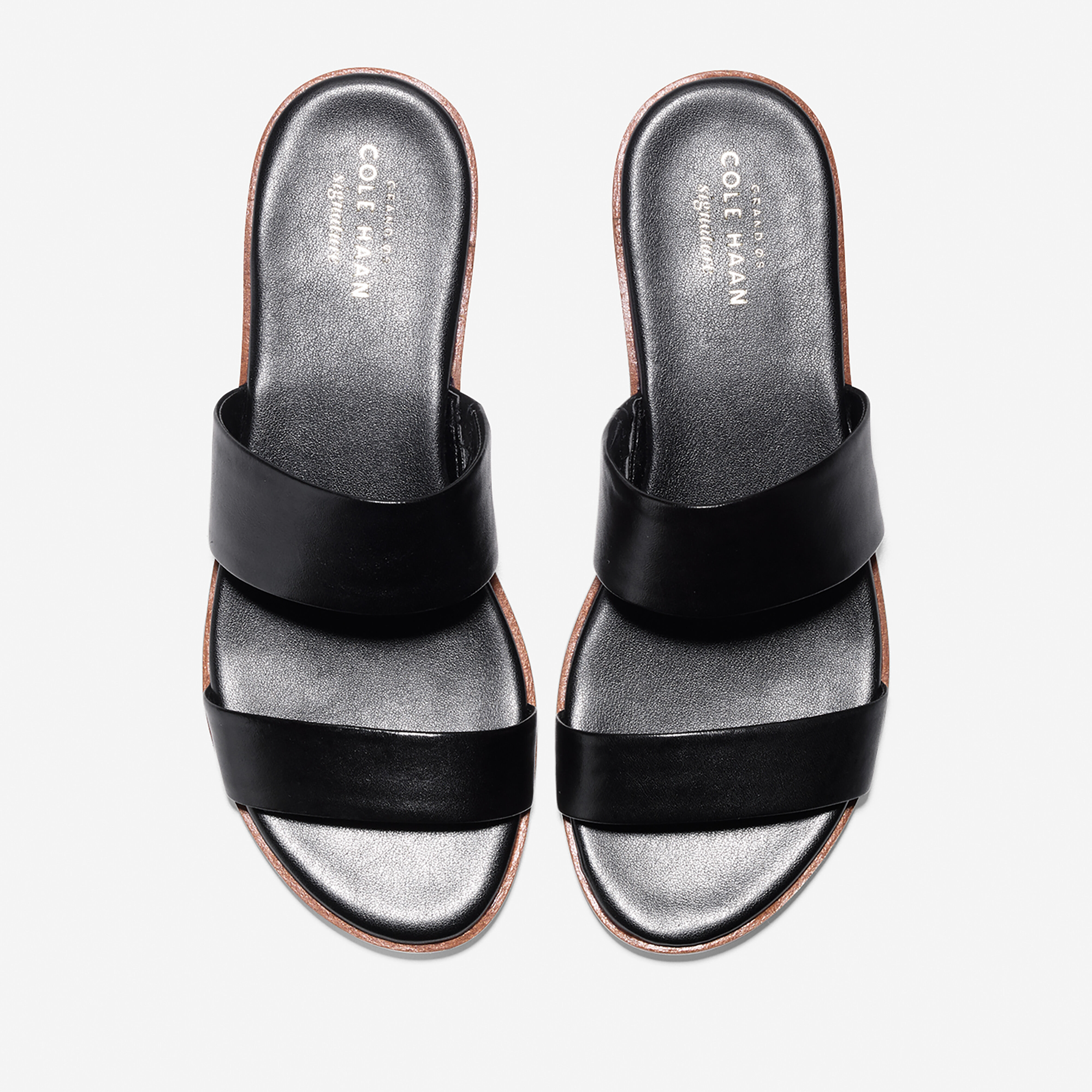 Findra Sandal in Black Leather | Cole Haan