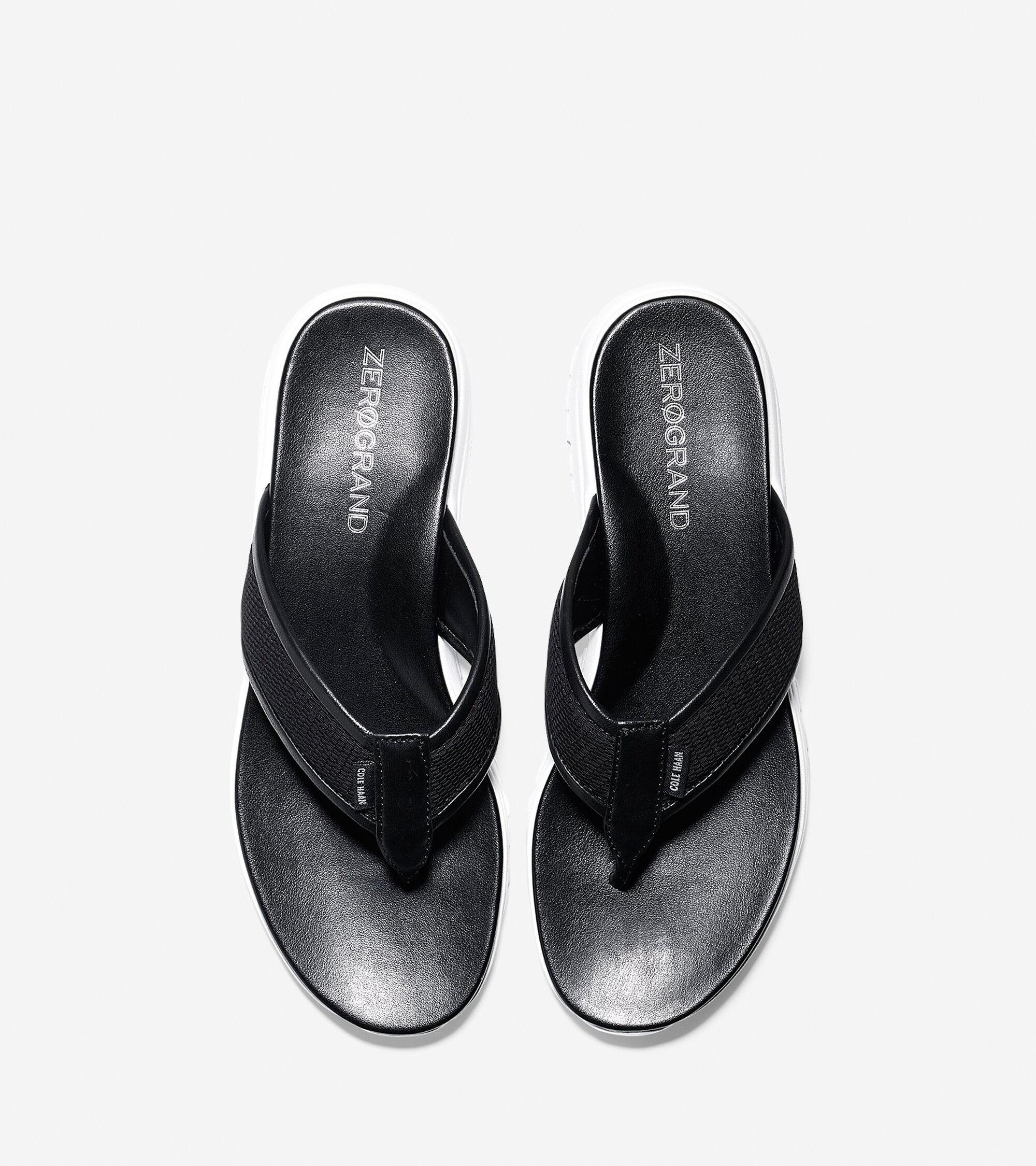 e781f74881b3 Womens ZEROGRAND Thong Sandals in Black