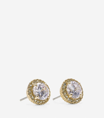 Tali Round Cubic Zirconia Halo Stud Earrings
