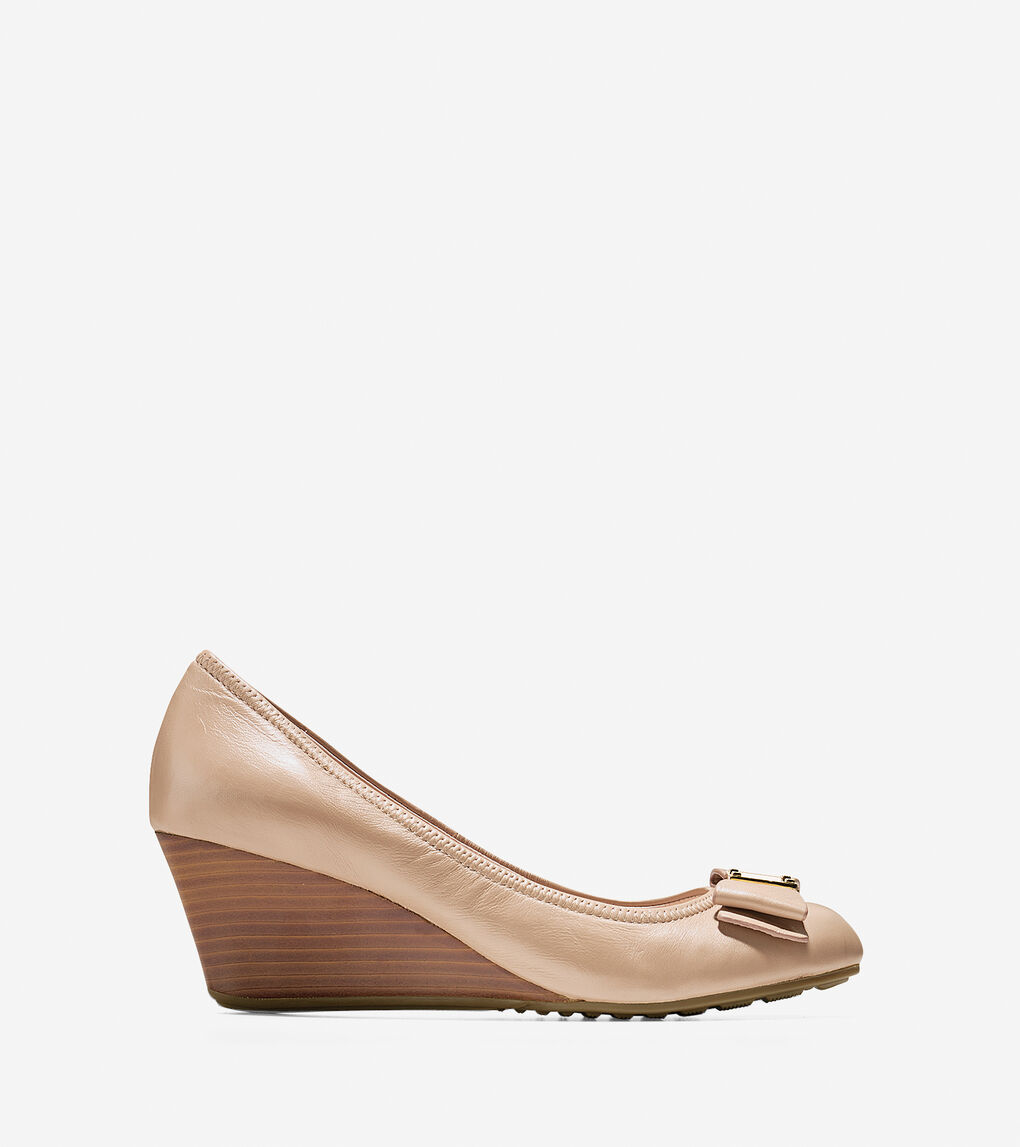 8d5c7e15c Women's Tali Grand Bow Wedge (65mm) in Maple Sugar | Cole Haan US