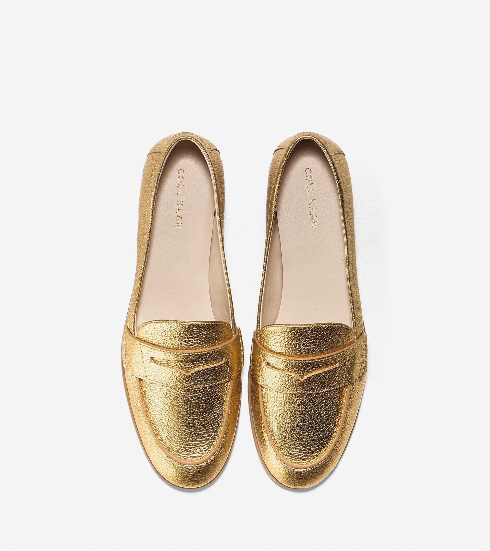 cef22c120e7f Women s Pinch Grand Penny Loafers in Gold Metallic