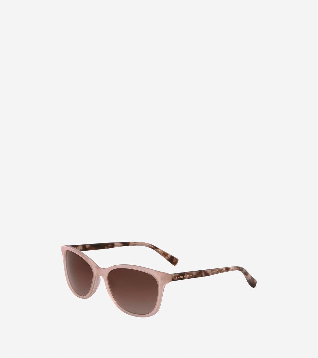 Womens Acetate Modified Rectangle Sunglasses