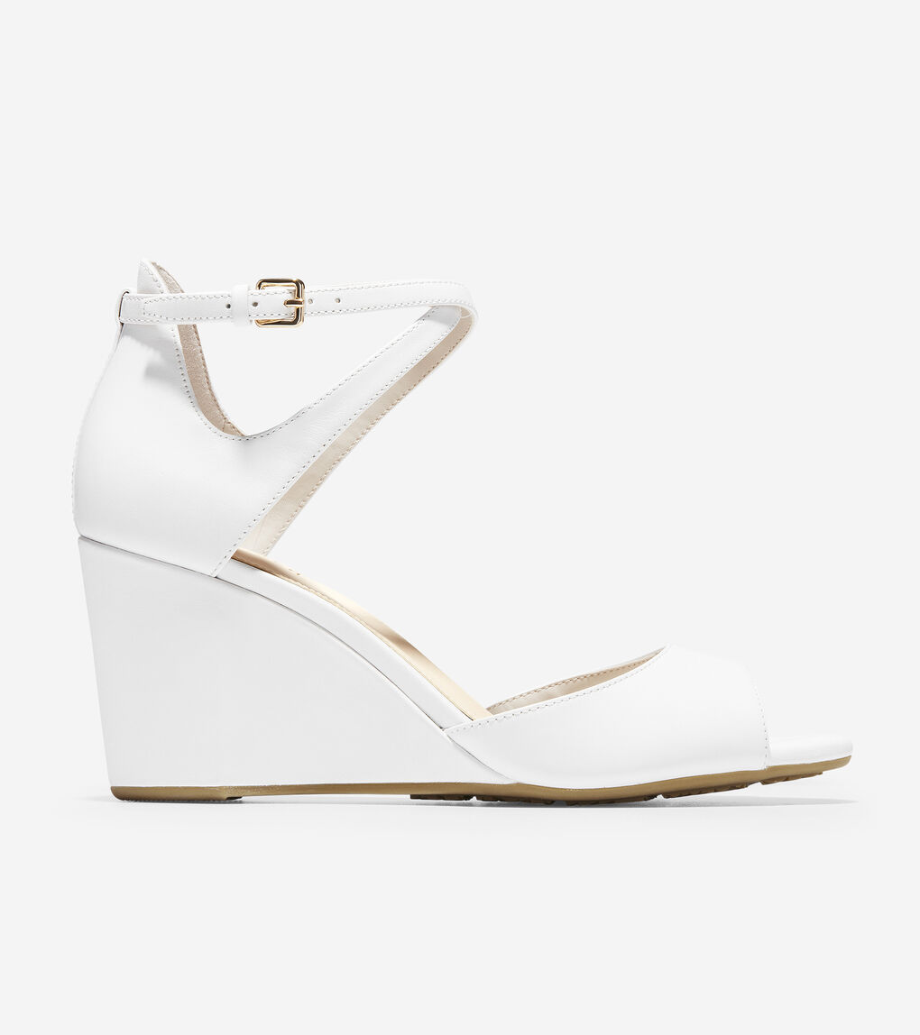 Womens Sadie Open Toe Wedge Sandal (75mm)