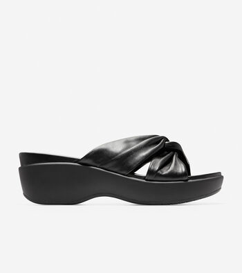 Aubree Grand Knotted Slide Sandal