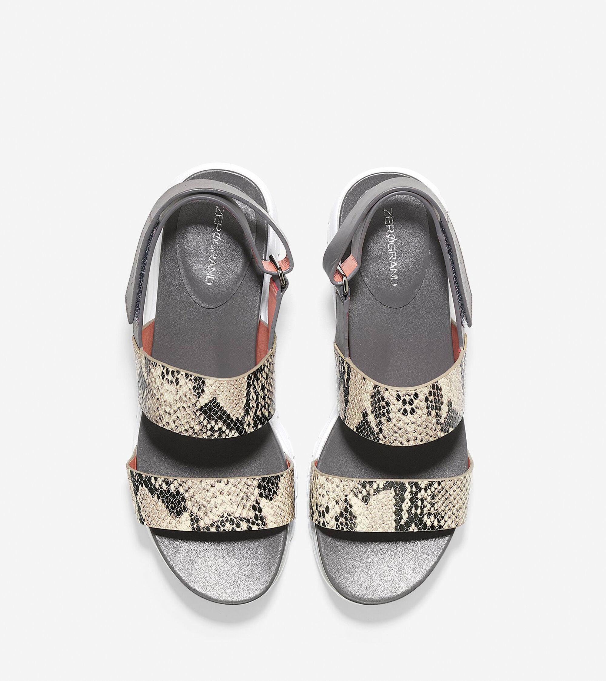 d2e85555b ZEROGRAND Slide Sandals in Roccia Snake