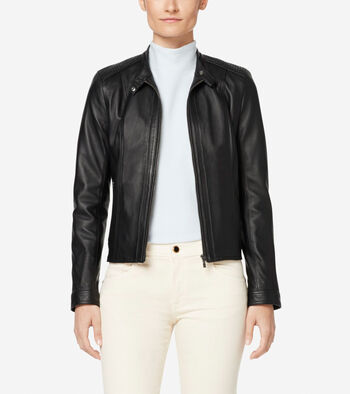 Italian Leather Modern Racer Jacket