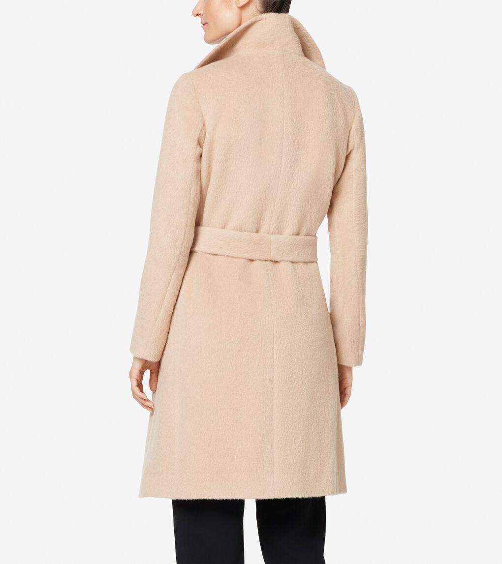 Womens Suri Alpaca Wrap Coat