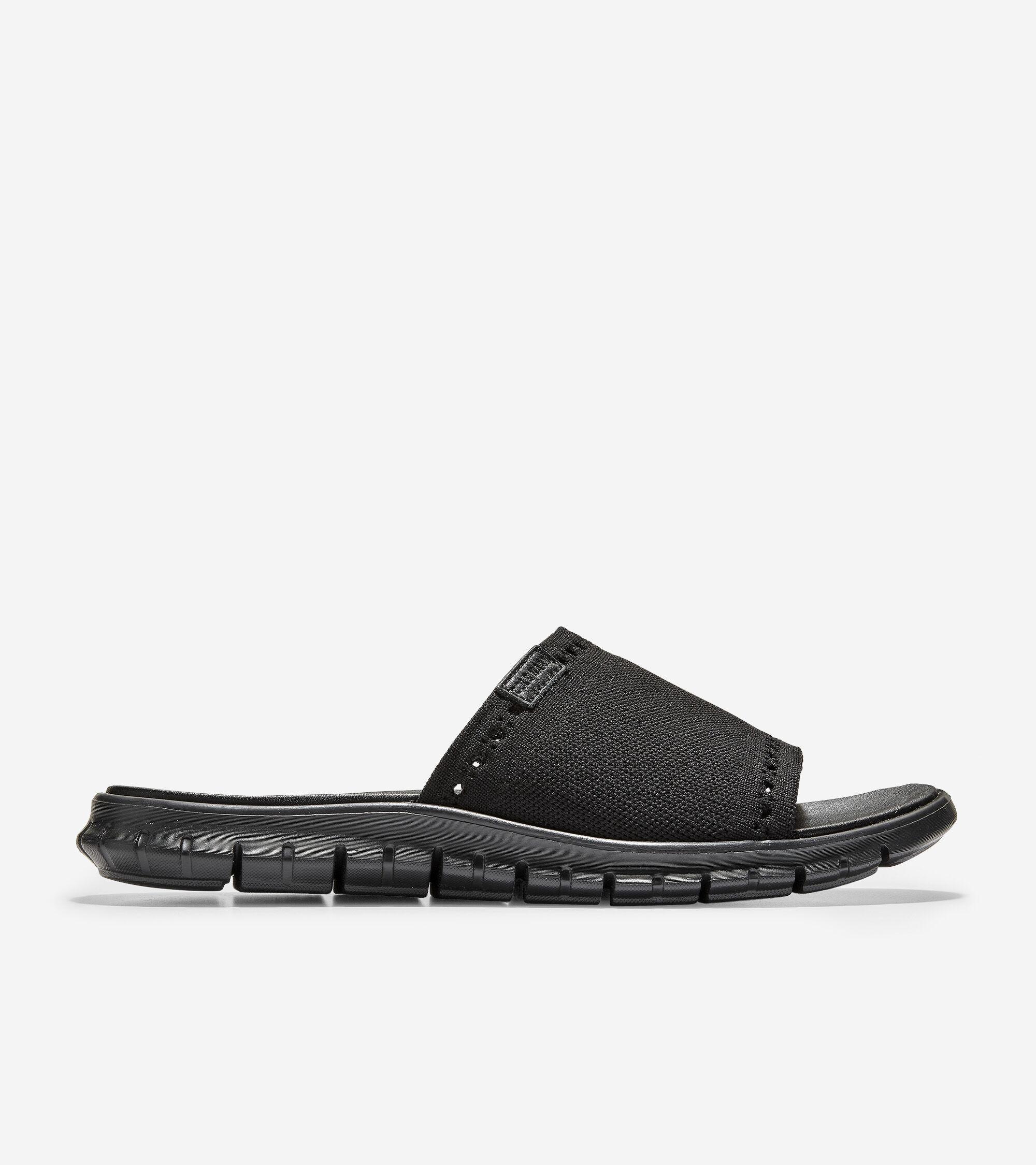 Men's ZERØGRAND Slide Sandal in Black