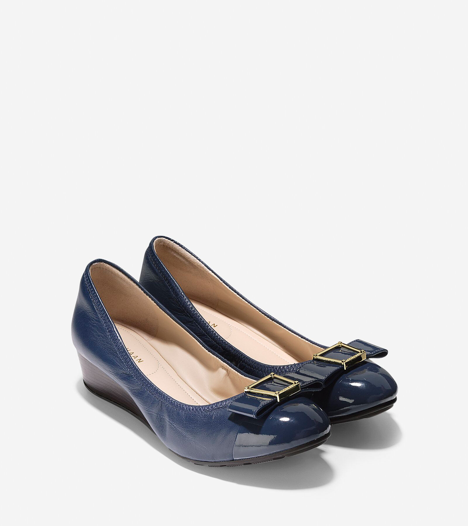 Women's Emory Bow Wedge in Marine Blue