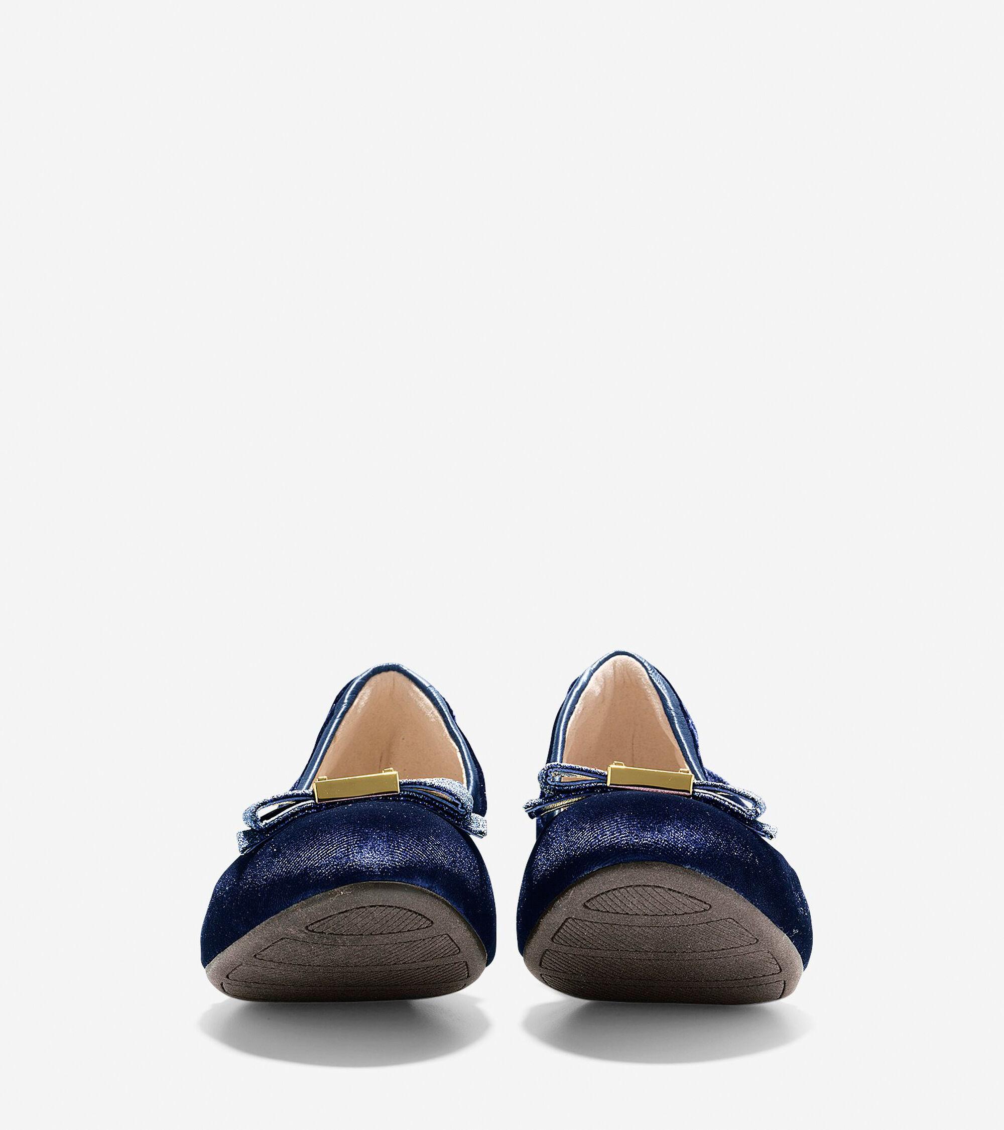 bb9515201570 Women s Tali Bow Ballet Flats in Marine Blue Velvet