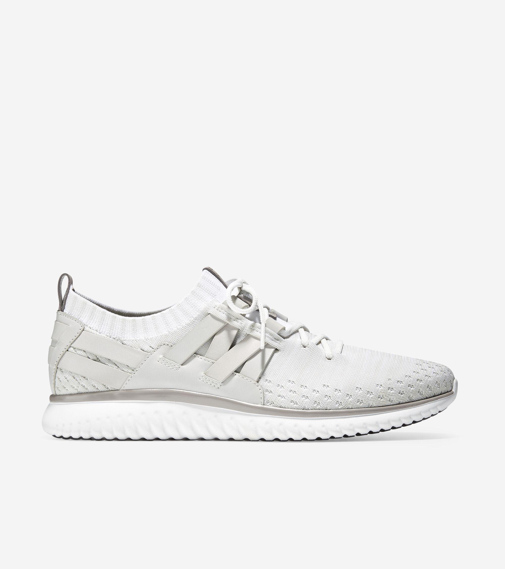 Woven Sneaker in Optic White Stitchlite