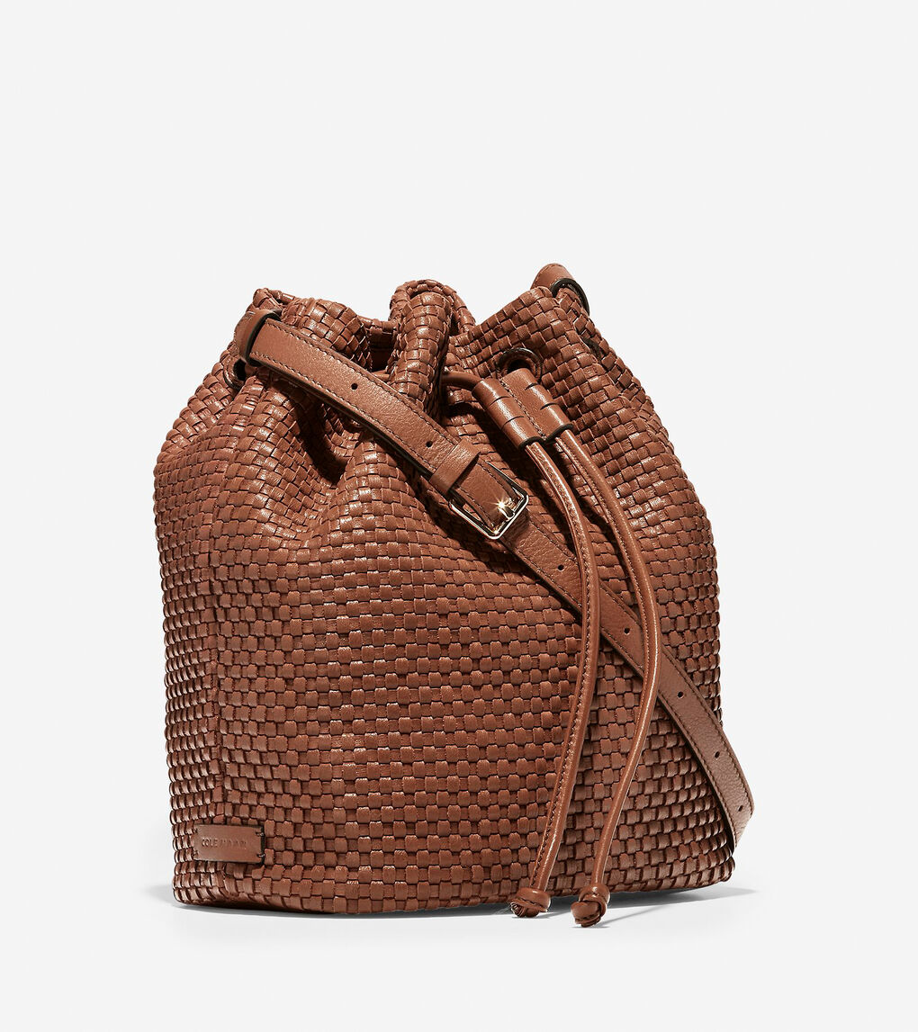 Womens Bethany Woven Drawstring Bucket
