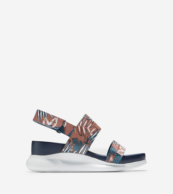 7519f14f15fc Women s 2.ZEROGRAND Slide Sandals in Tropical Print