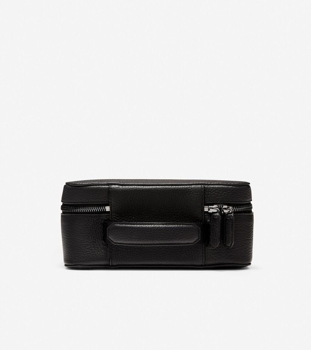 Mens GRANDSERIES Leather Zip Around Travel Case