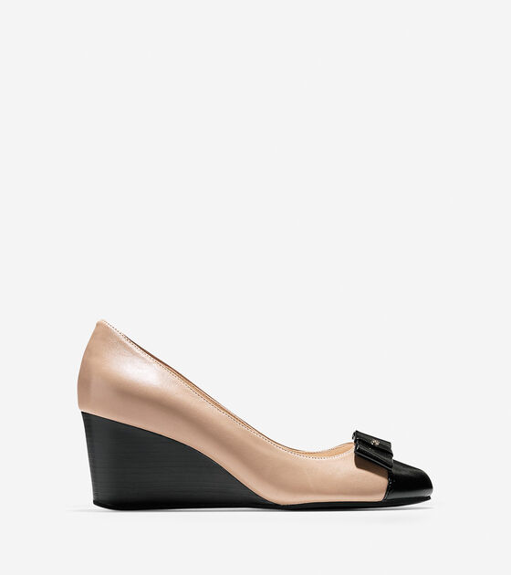 Shoes > Elsie Bow Wedge (65mm)