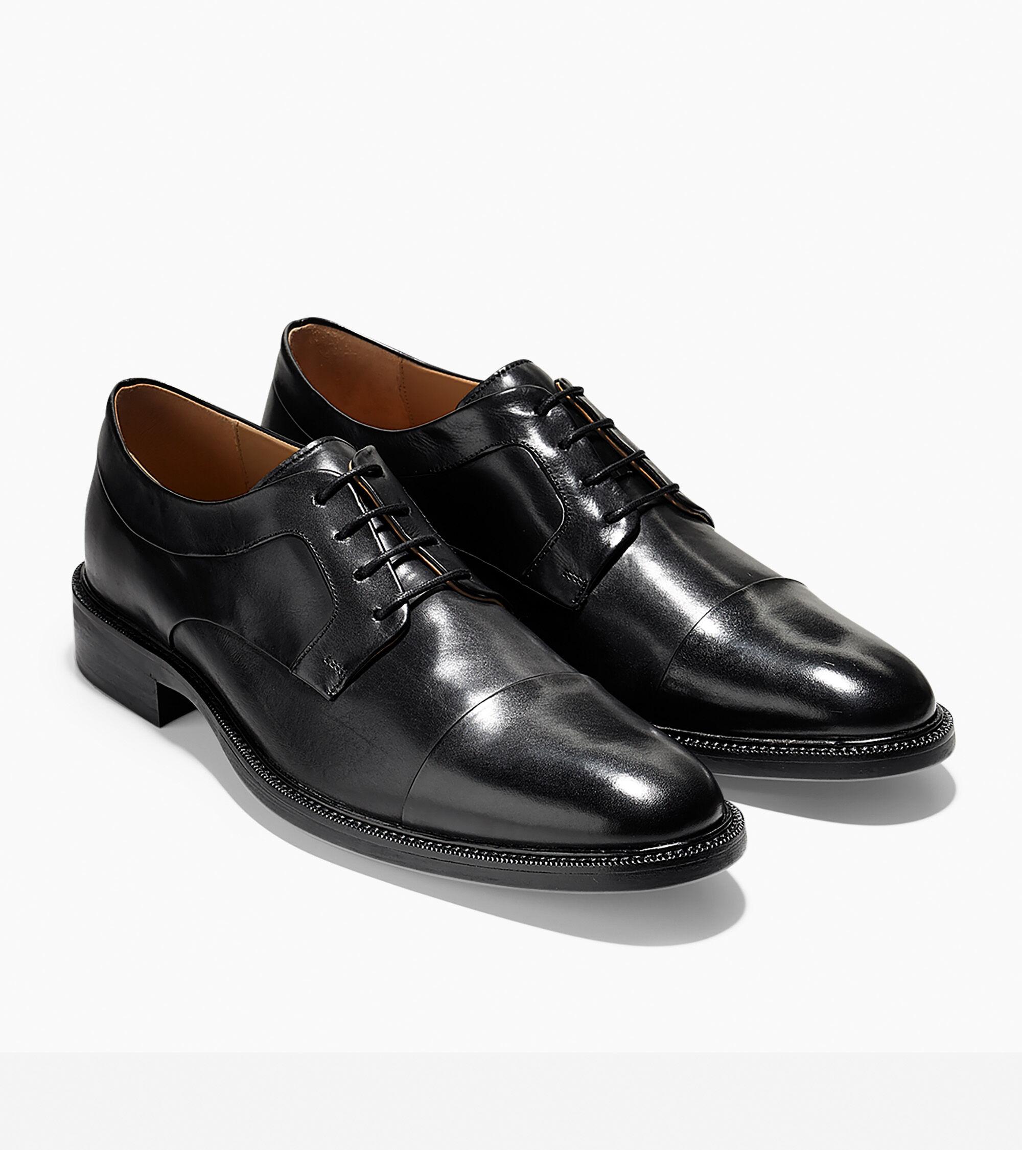 Warren Cap Toe Oxford in Black | Cole Haan