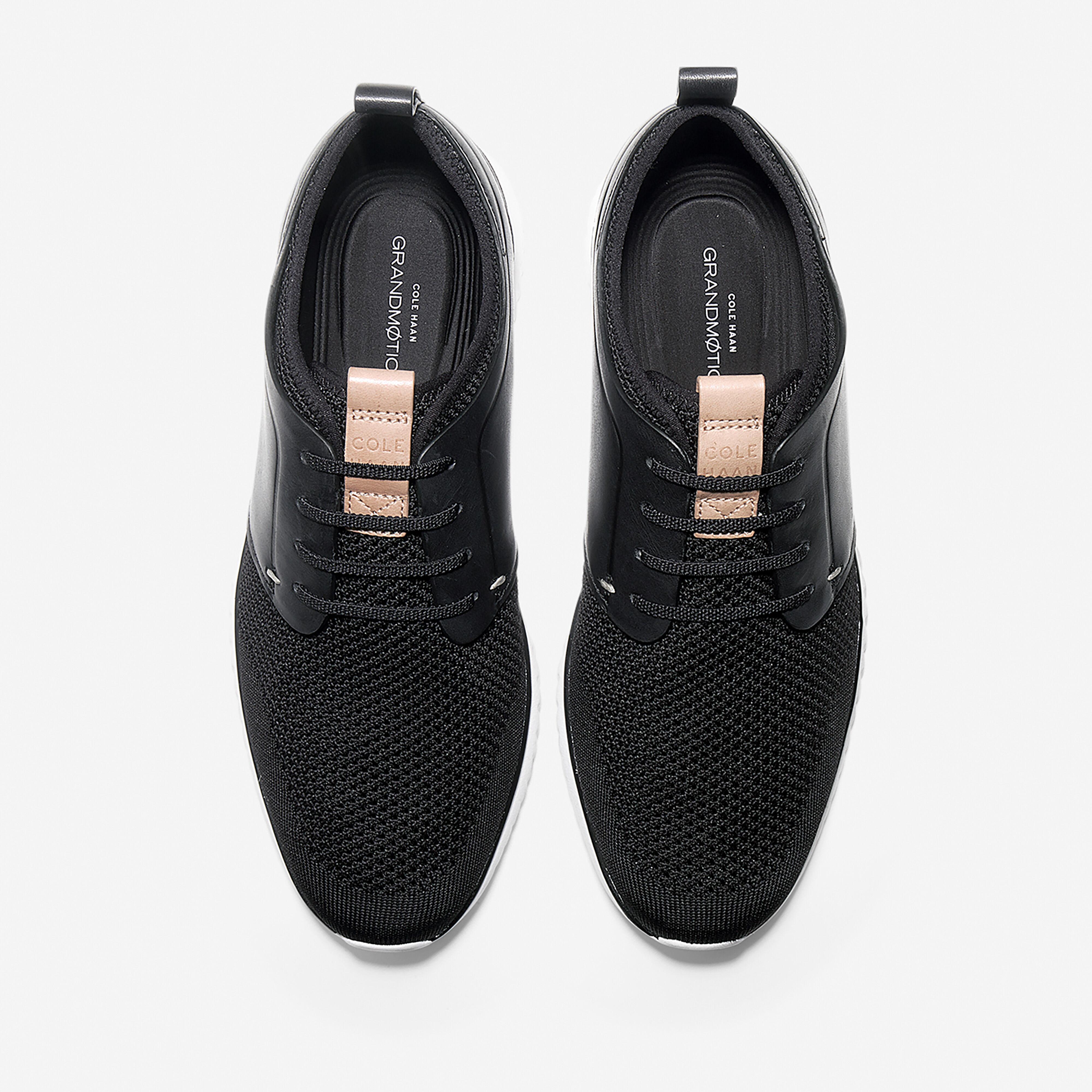 Knit Sneaker in Black-optic White