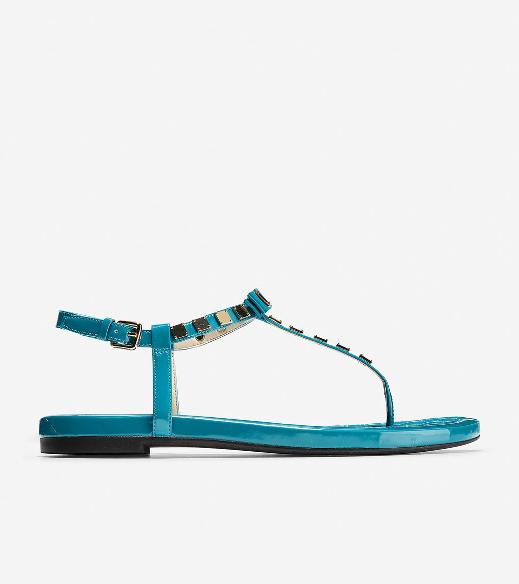 Womens Tali Mini Bow Studded Sandal
