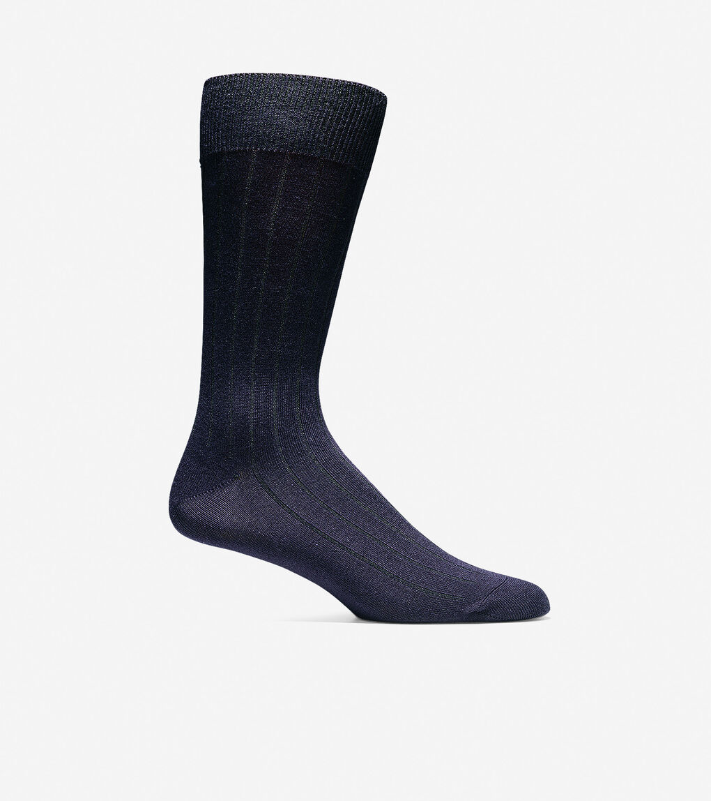 Mens Ribbed Crew Socks
