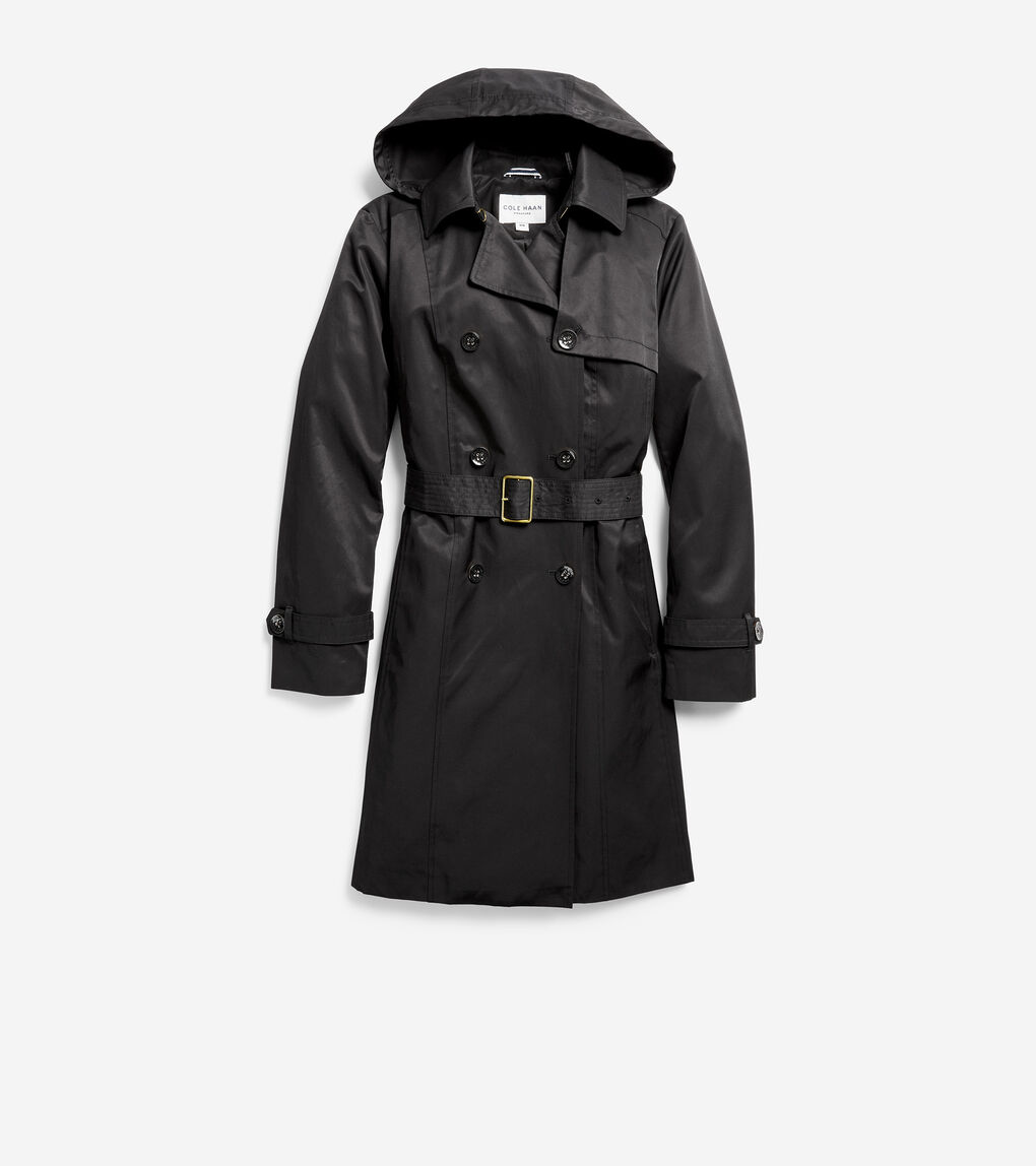 WOMENS Hooded Trench Coat