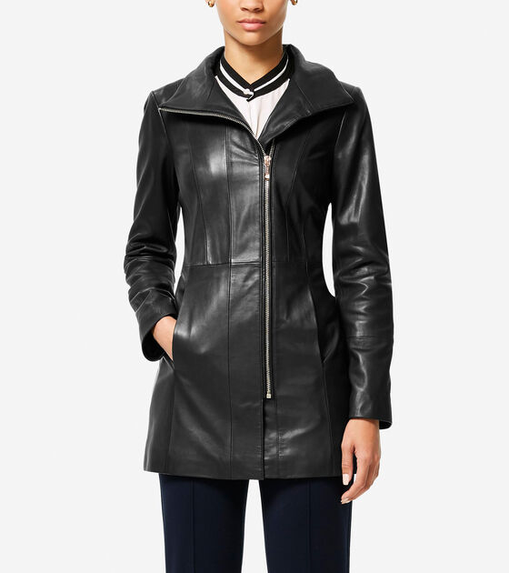 Outerwear > Italian Smooth Lambskin Car Coat