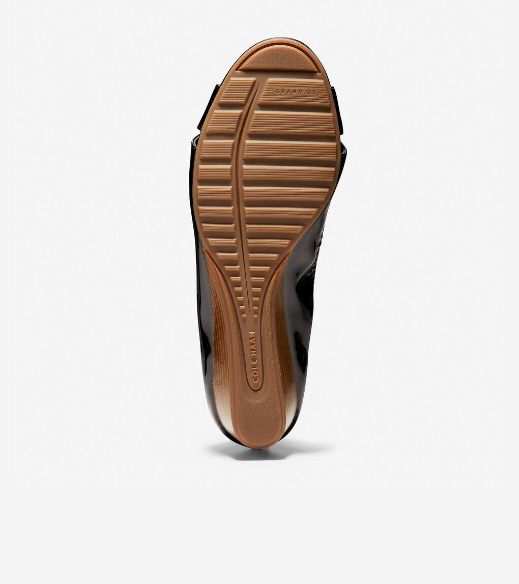 Womens Melina Criss Cross Open Toe Wedge (40mm)
