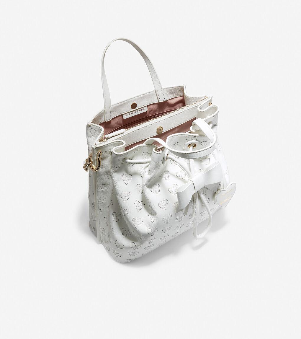 Womens Cole Haan x Rodarte Hearts Bucket Bag