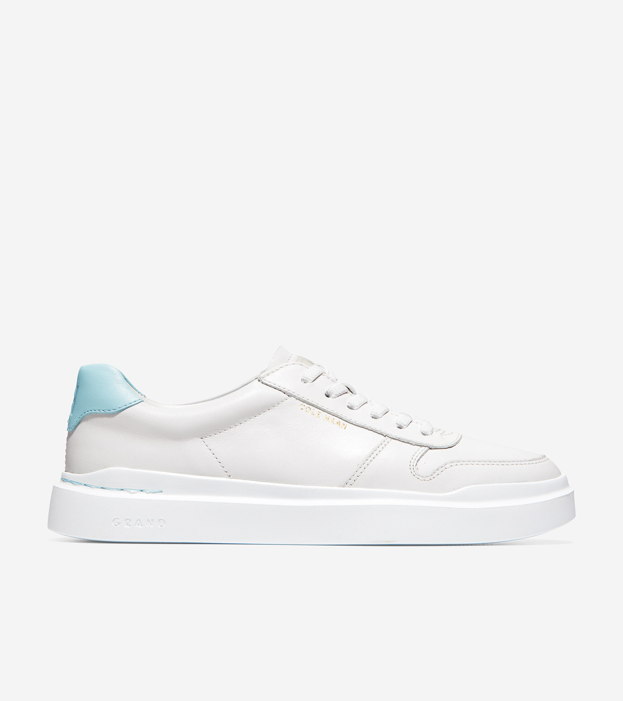 Optic White Leather-Light Blue | Cole Haan
