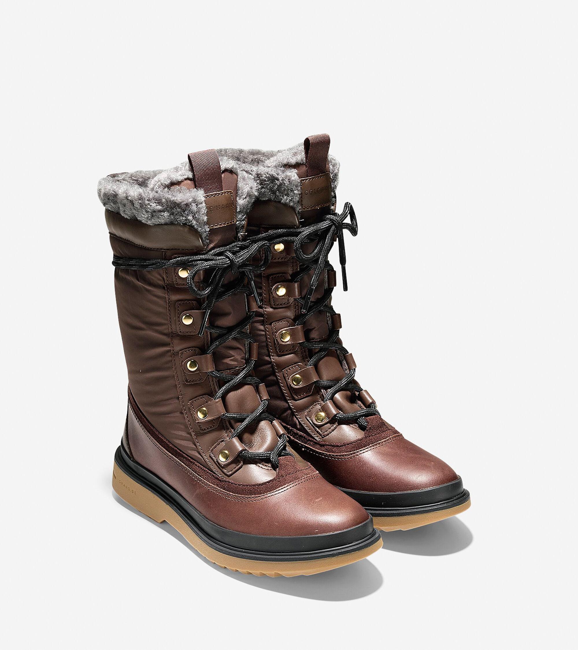 Women s Millbridge Waterproof Lace Up Boots in Chestnut Gray ... 0589cbd1e