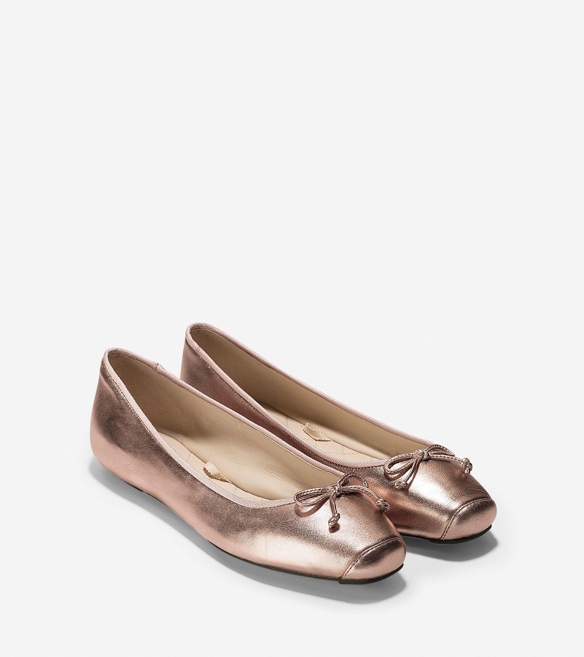 ea66f1c2ee47 Women s Downtown Ballet Flats in Rose Gold Metallic