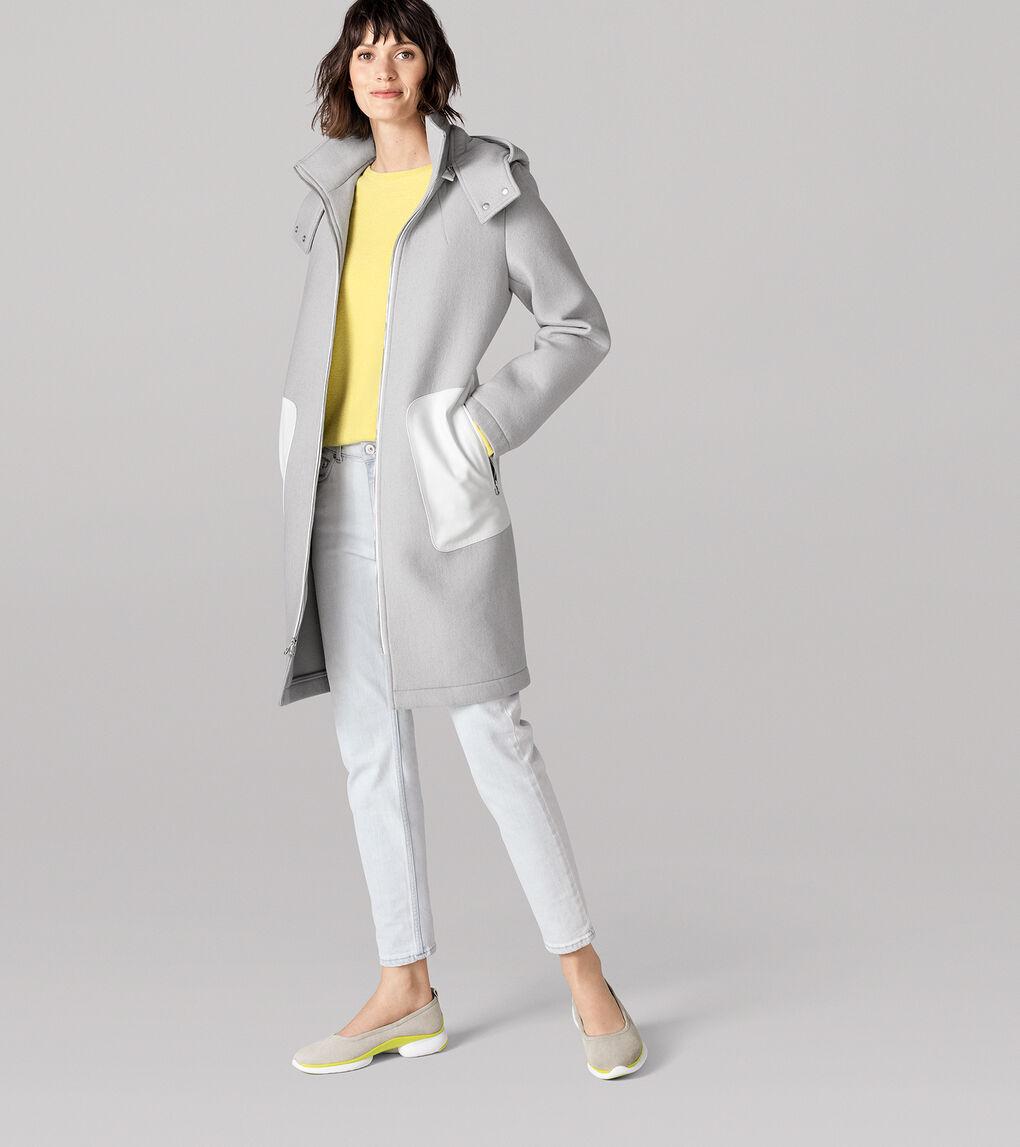 Womens Grand.ØS Neoprene Bonded Wool Jacket