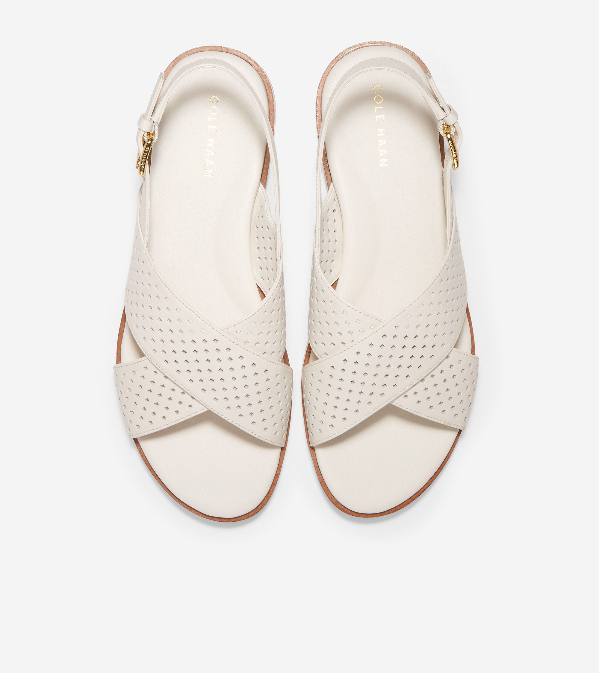 Ivory Square Perf Leather