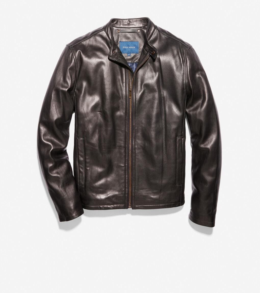 Mens Smooth Lamb Moto Jacket