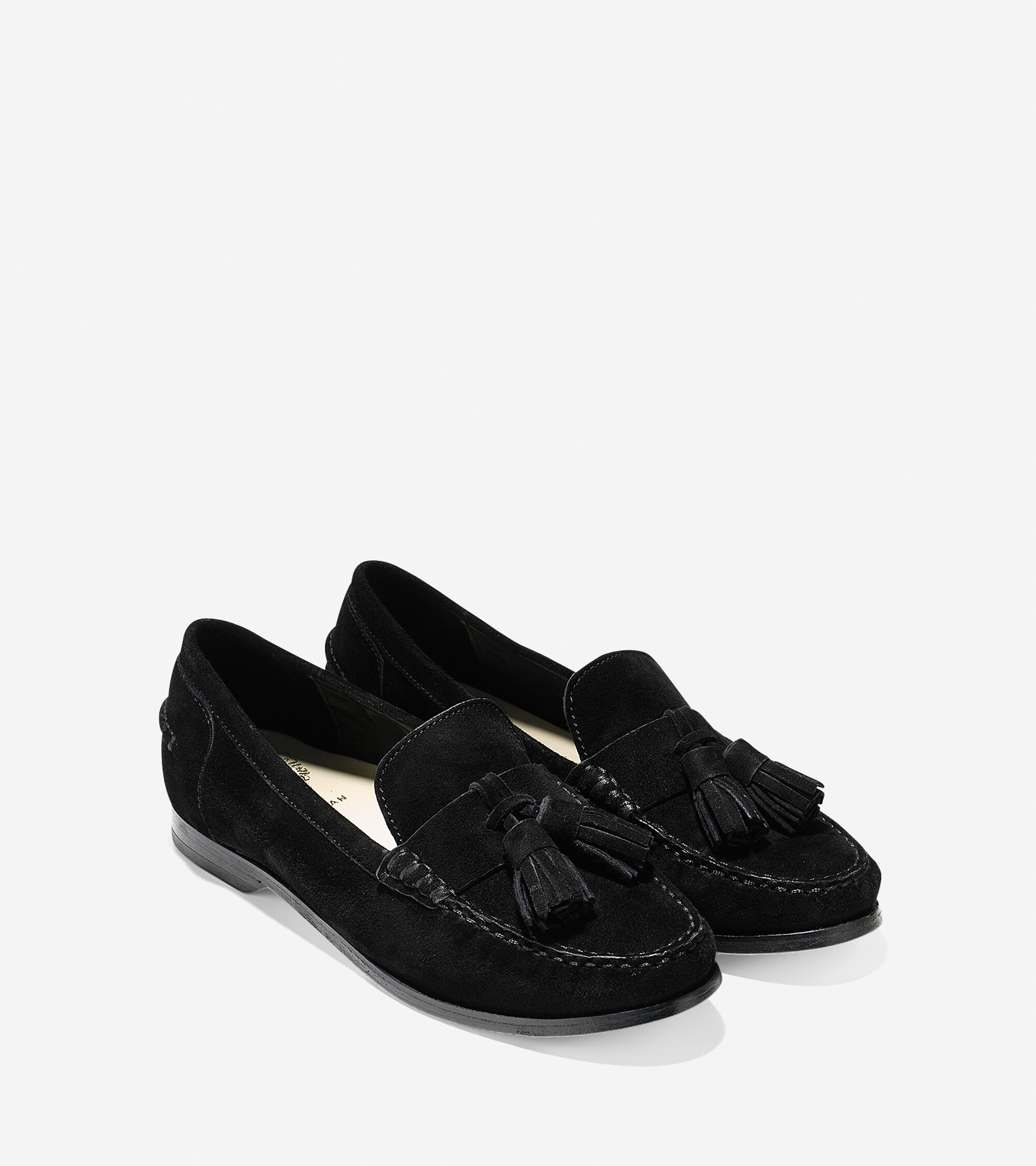 181c3ccf5f1 Pinch Grand Tassel Loafers in Black Suede