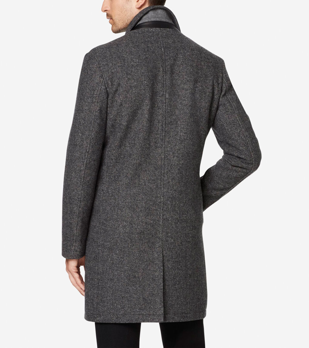 Mens Modern Wool Twill Topper