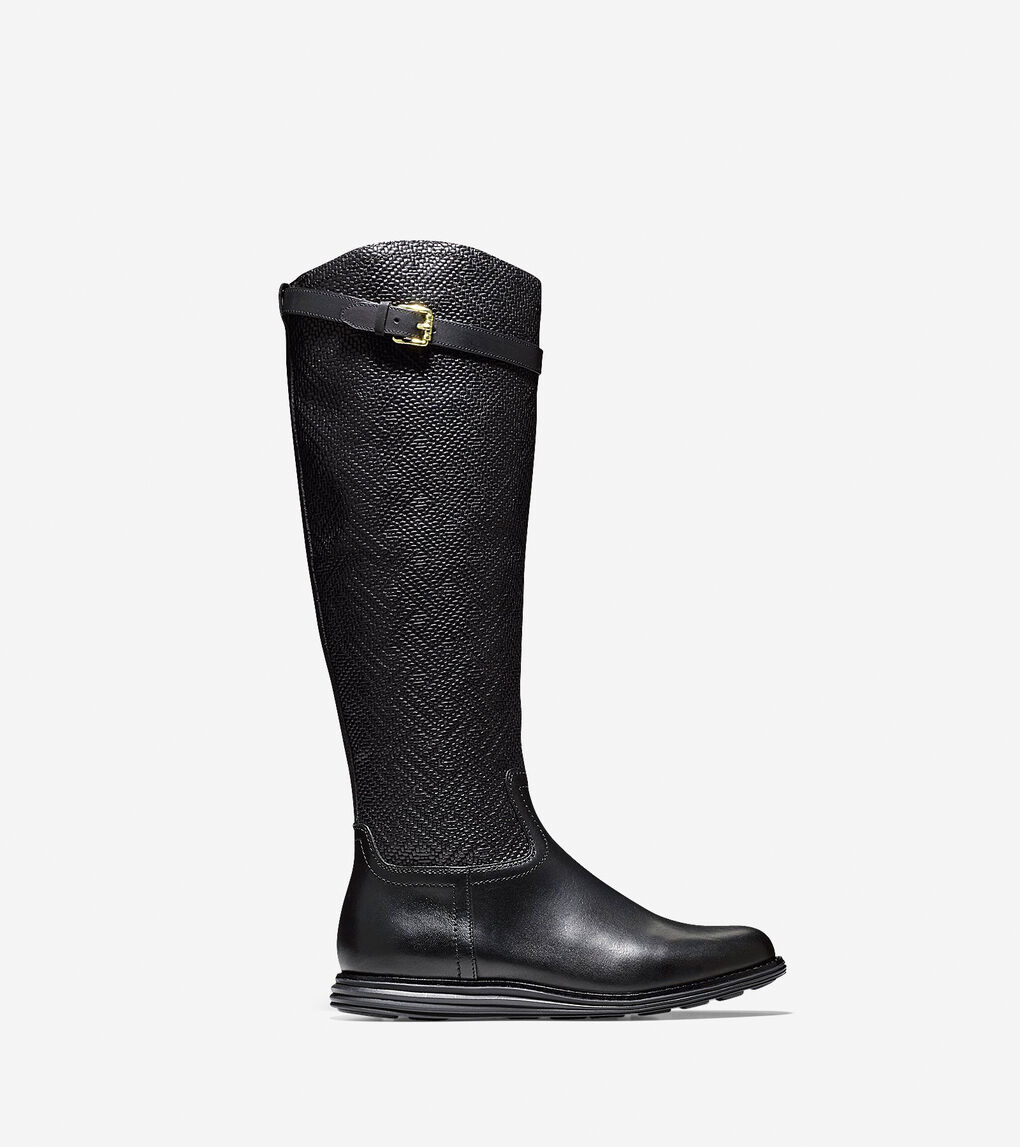 641e26270b Women's ØriginalGrand Tall Boot in Black Weave Leather | Cole Haan US