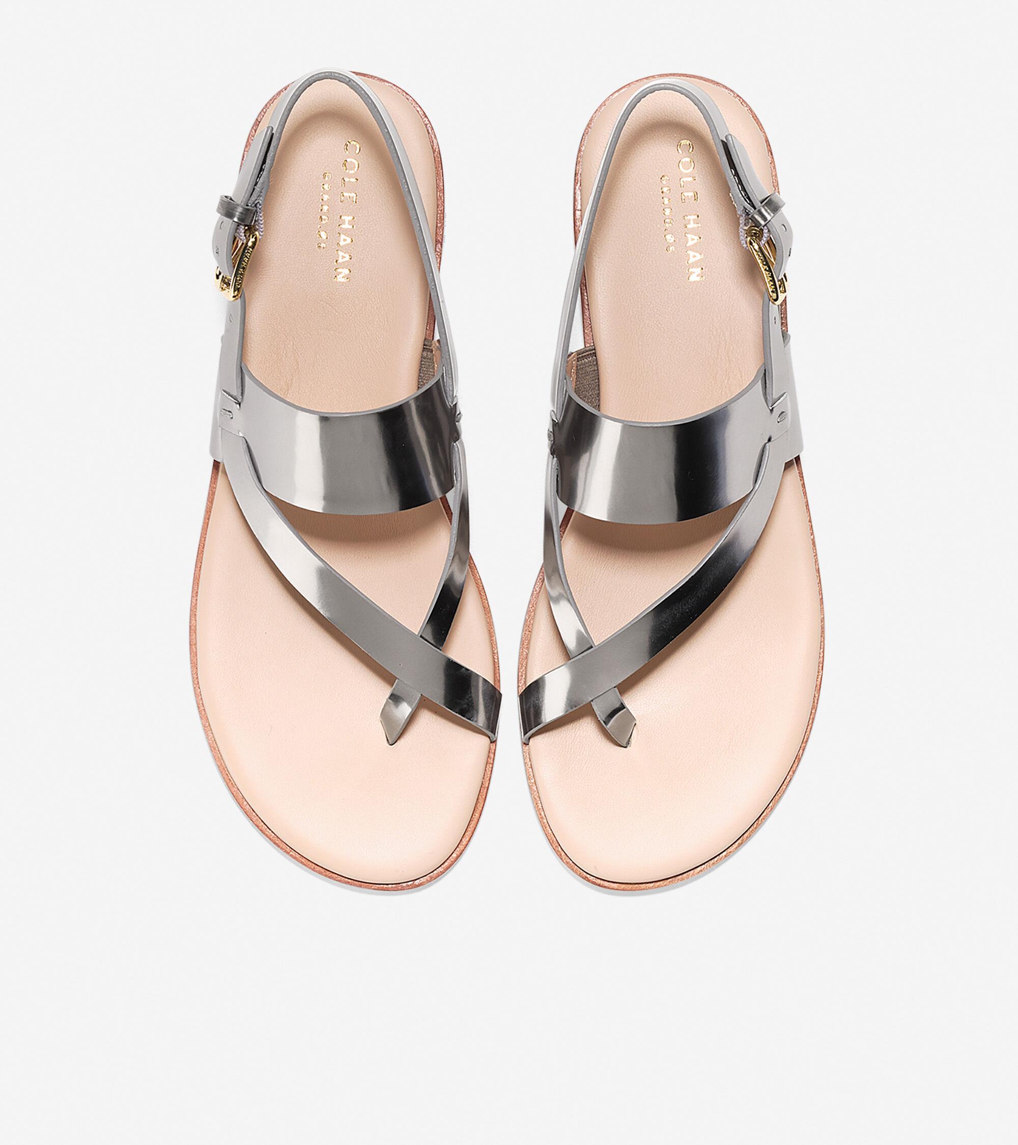 4d7159427d175b Women s Anica Thong Sandals in Pewter Metallic