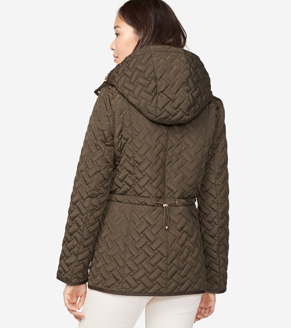 WOMENS Signature Quilted Zip Front Jacket