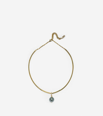 Starry Pearl Collar Necklace